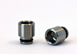 Stainless Steel Nano Tip - 8mm Ultra Wide Bore - Fine Brushed Finish